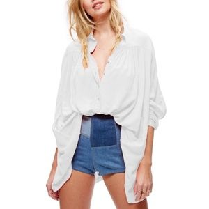 Free People Lovely Day Button Down Flowy Top Tunic